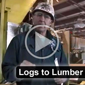 log lumber block